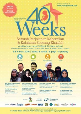 40 WEEKS: Seminar Kehamilan & Soal Jawab